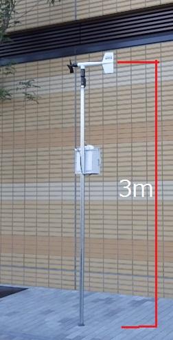風向風速計の設置高さ3m