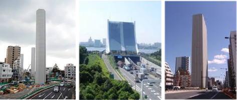 道路の換気塔