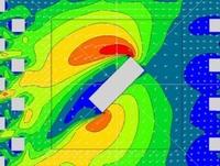 高精度な計算モデルを用いてビル風を予測しています