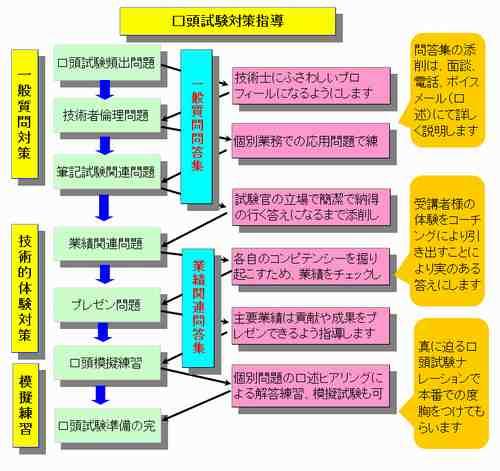 口答試験対策指導の流れ